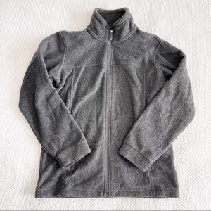 COLUMBIA Fleece Zip Up Sweater Jacket - Gray - M (10/12)